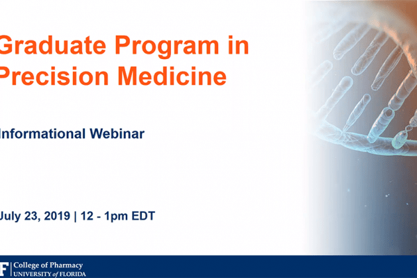 Image of the first slide of the Precision Medicine program webinar