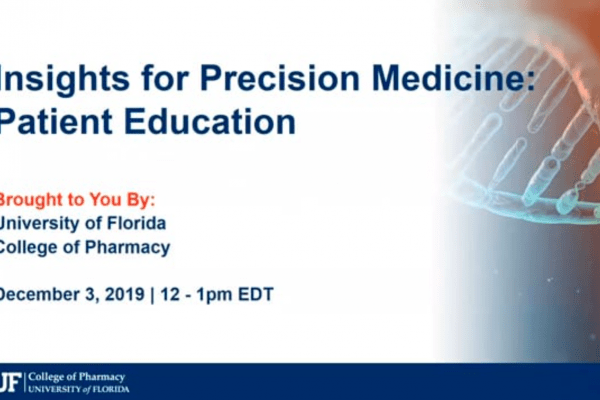 Patient Education | Precision Medicine Insights (Dec. 2019)